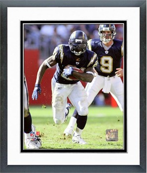 San Diego Chargers Ladainian Tomlinson 2005 Action Framed